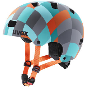 UVEX Kid 3 CC Fietshelm Kinderen, green checkered